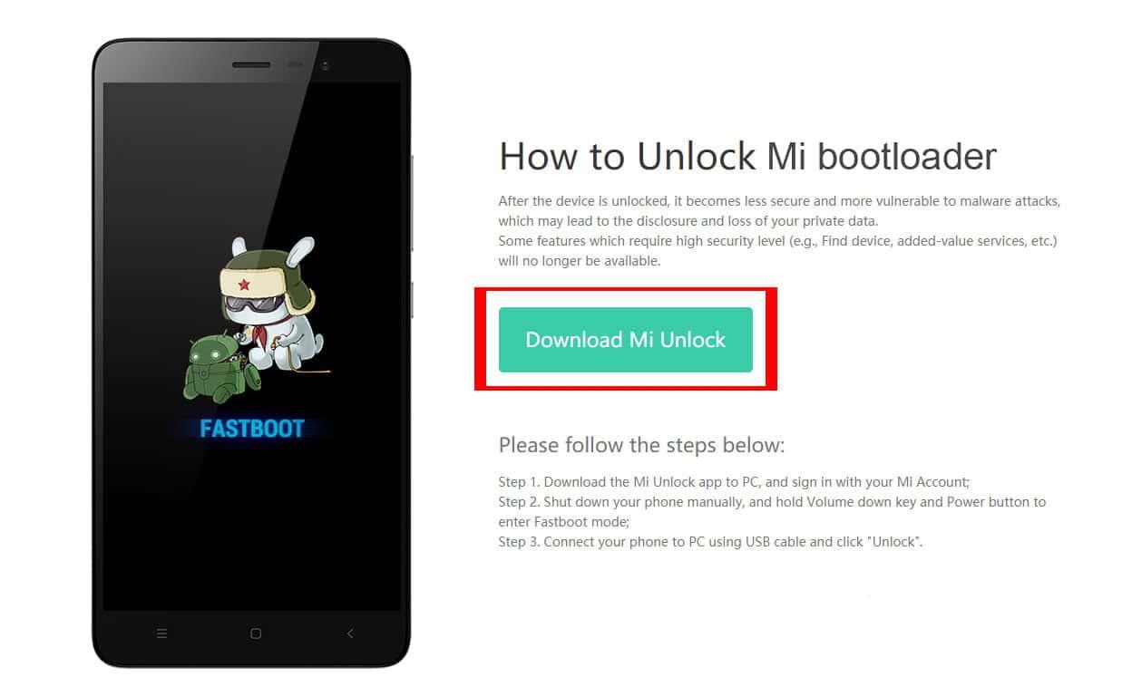 mi bootloader unlock